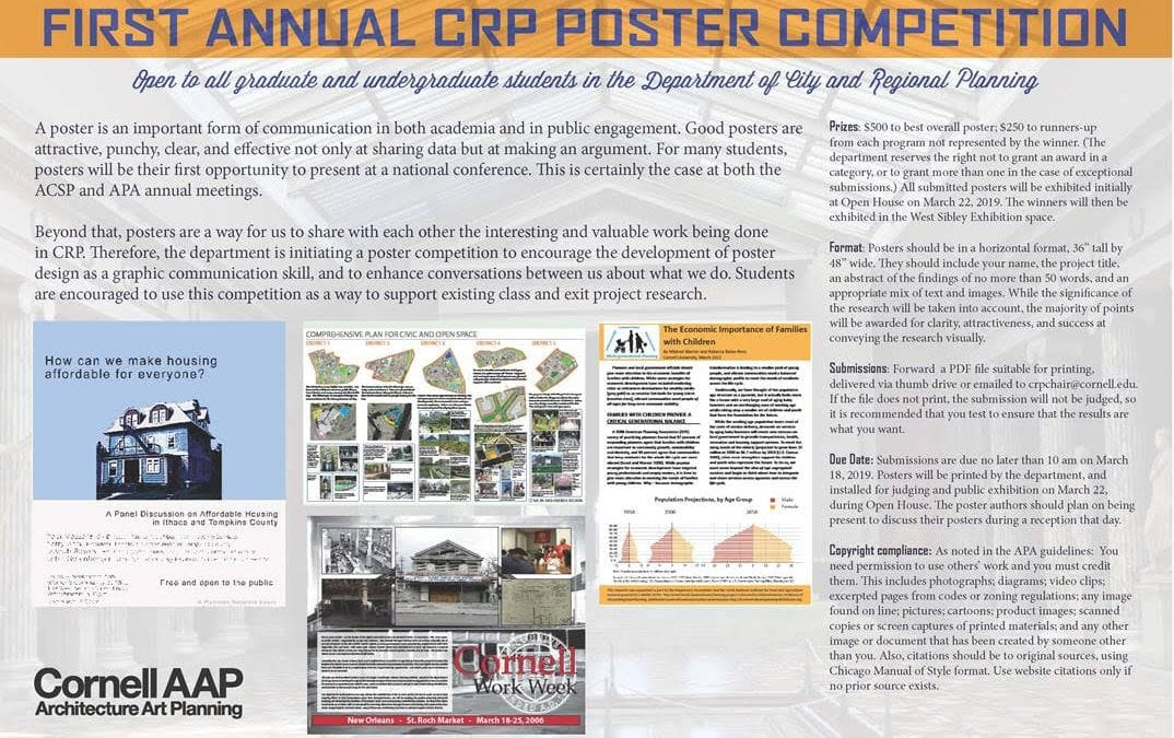Enter the CRP Poster Competition for a chance to win $500