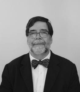 heat shot of a man with a beard