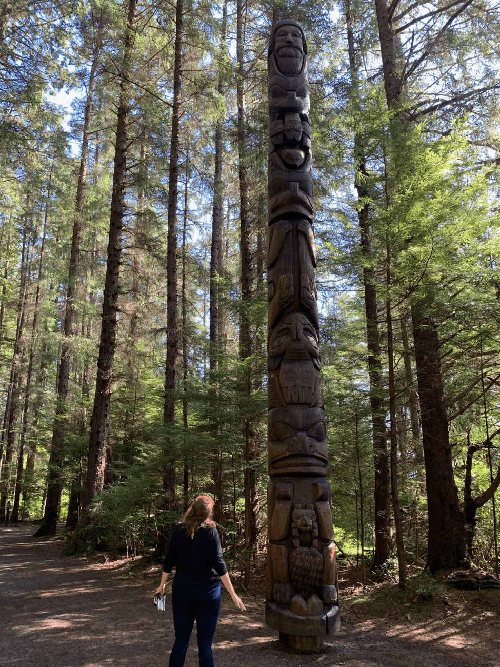 Totem Pole in Woods