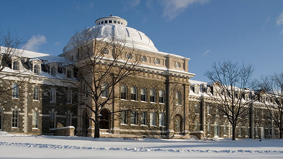 snow-covered building