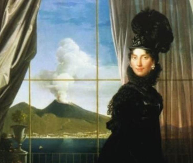 Portrait of Queen Caroline by Ingres, 1814 (detail)