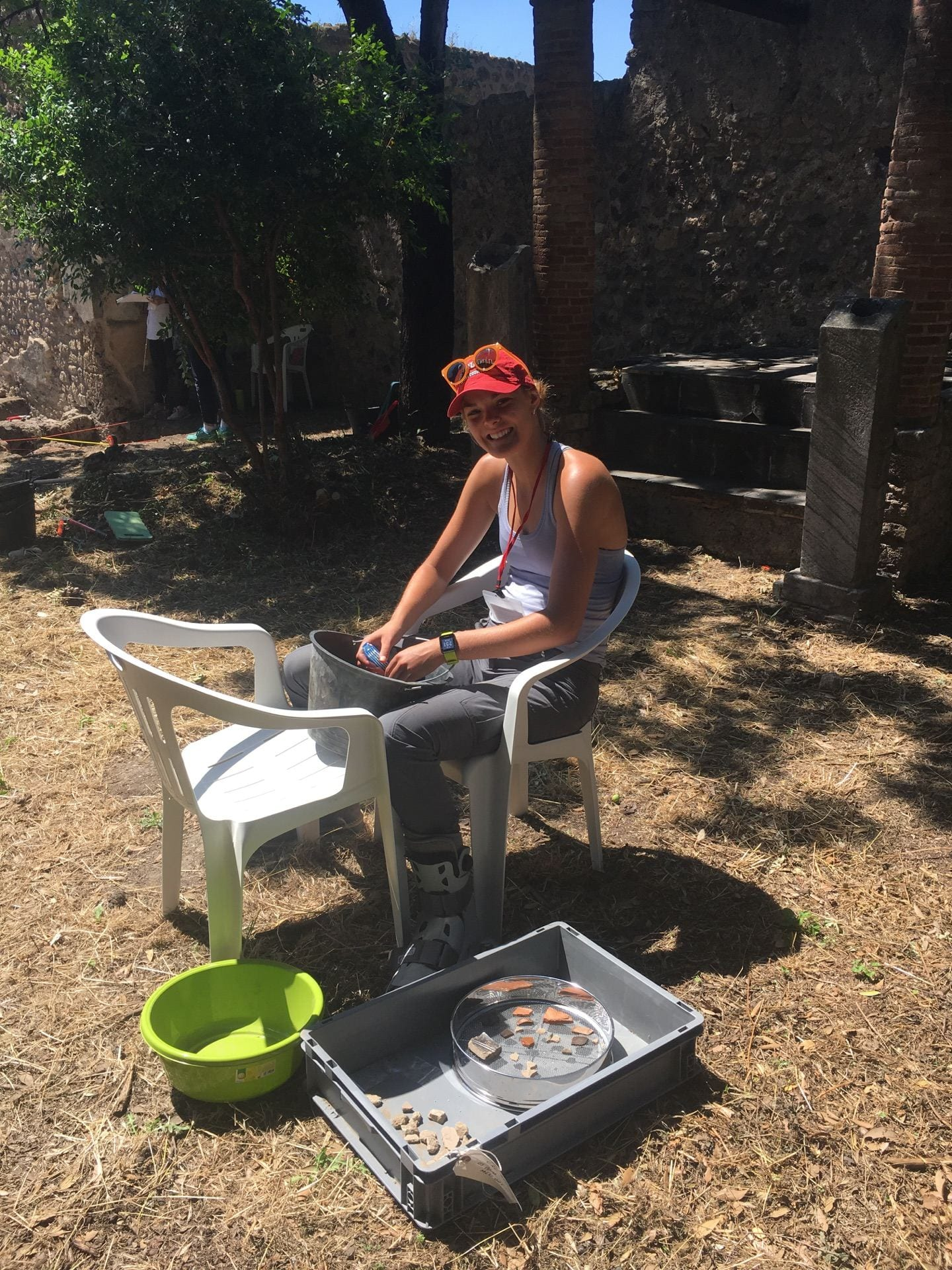 Washing ceramic finds (2018 field season)