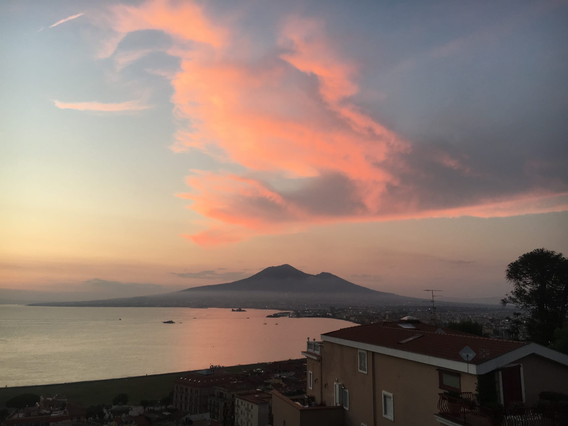 View of Mt. Vesuvius from Castellammare di Stabia, where undergraduates will be housed