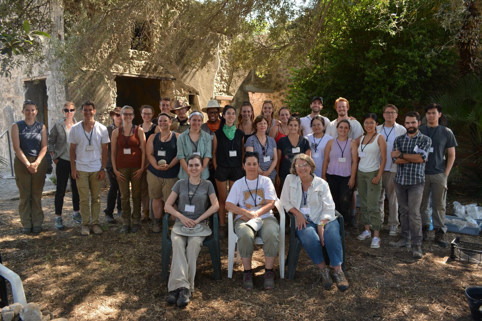 The 2019 CRC team onsite at Pompeii (Photo: Danielle Vander Horst)