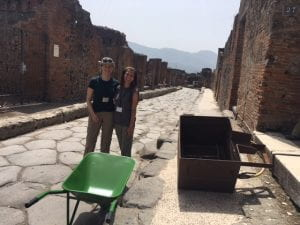 Flotation equipment in its natural setting, a Pompeii street!