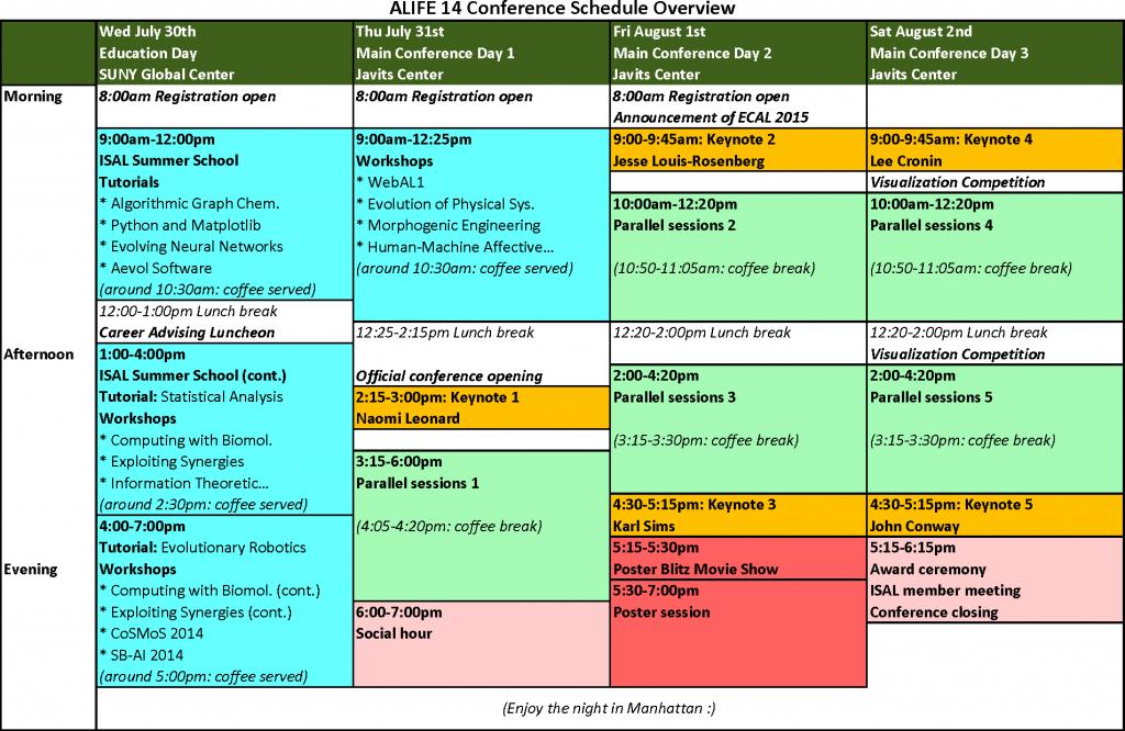 ALIFE14-schedule