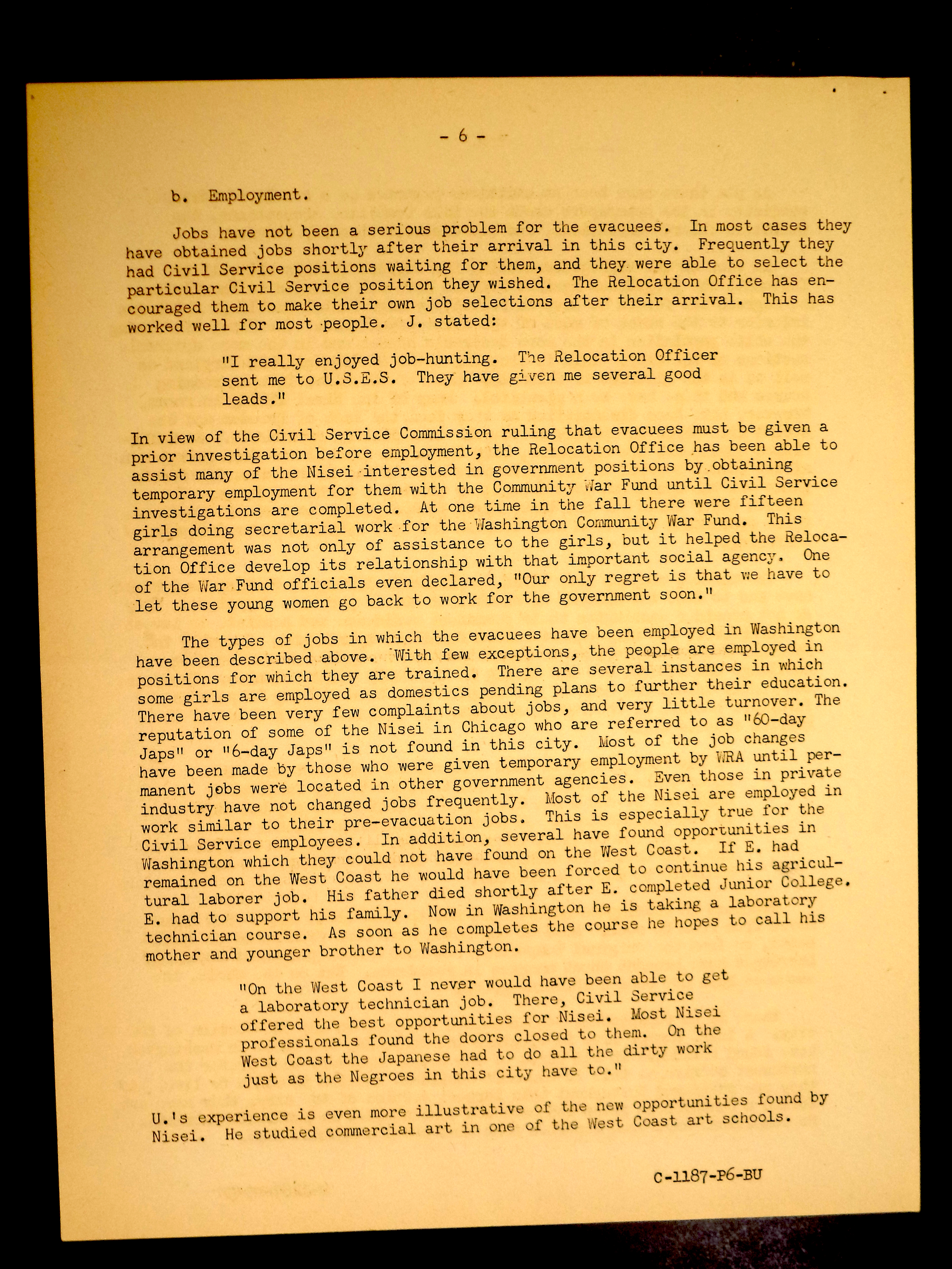 ese american relocation centers records a student digital relocation to washington war relocation authority community analysis relocation studies no 1 4 1944