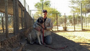 Zack with Firat, a trained Livestock Guard Dog.