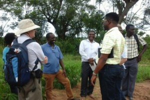 Members of the Cornell-affiliated Next Generation Cassava Breeding project visit Tanzania in April 2016.