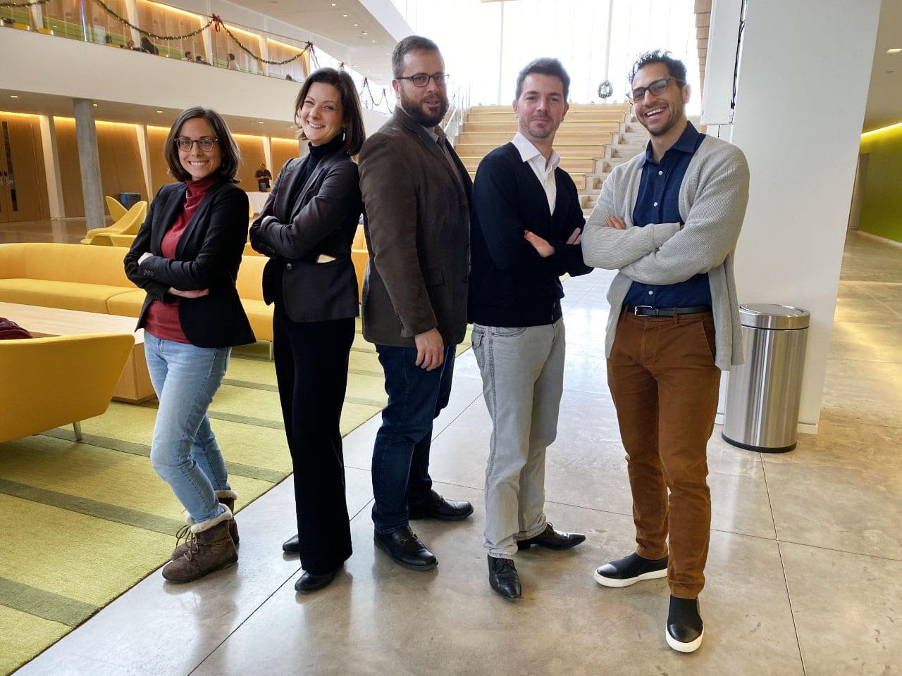 AMR panelists in atrium
