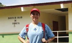Ana in Guna Yala Panama working as a Malaria Consultant for the Pan American Health Organization