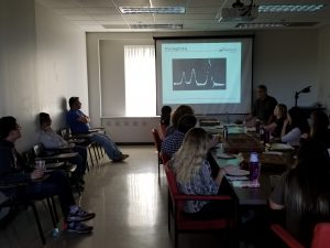 Students learning about NMR from the master himself -- Ivan Keresztes!!