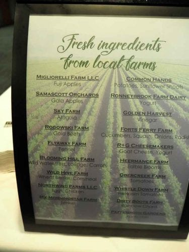 The New York Soil Health Summit lunch was sourced from 19 local farms.