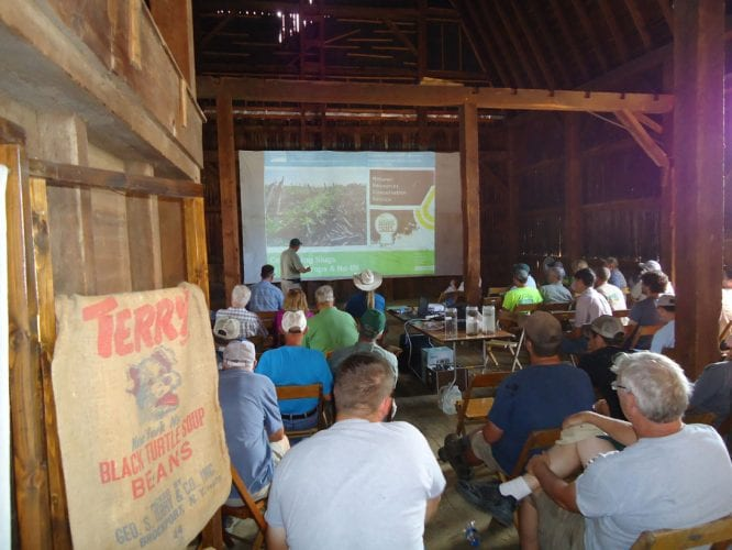 Attendees at a Western New York Soil Health Alliance soil health workshop