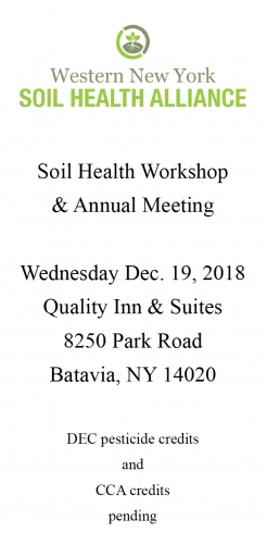 WNYSHA Workshop and Meeting December 19 2018