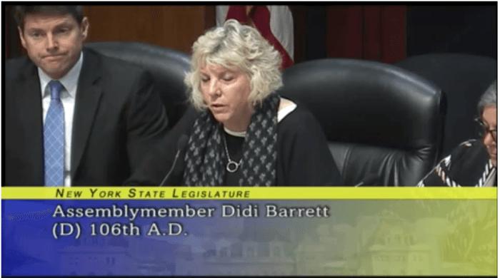NYS Assemblymember Didi Barrett