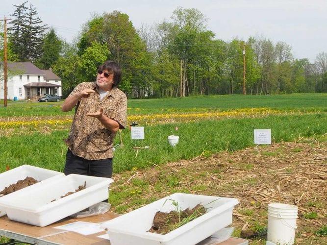 Cornell Soil Health Lab Director Bob Schindelbeck