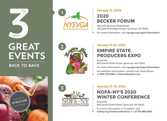 save the date NYSVGA Producers Expo