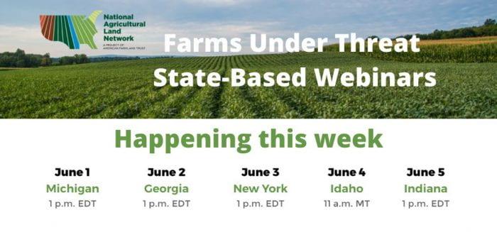 Farms under threat New York Webinar by American Farmland Trust