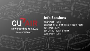 CUAir info session