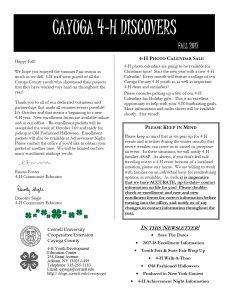 Cayuga 4-H Discovers Fall 2017 pdf