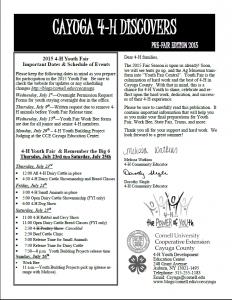2015 Pre-Fair Edition