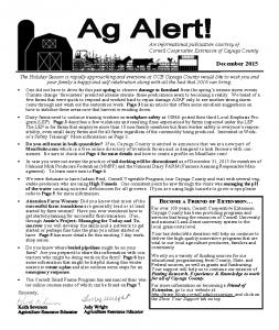 December 2015 Ag Alert
