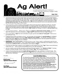 Ag Alert - July 2016