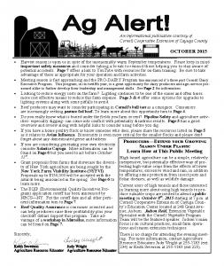 October 2015 Ag Alert