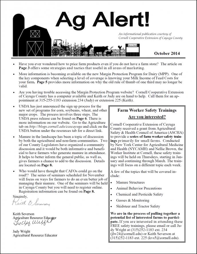 Ag Alert October 2014