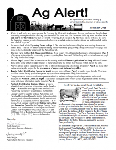 February Ag Alert Front Page
