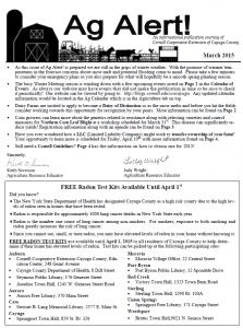 Ag Alert - March 2015