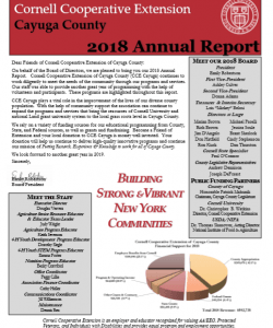 Cayuga County 2018 Annual Report