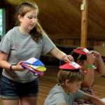 Lindsay Dower '17 guides students in a nutrition game – Mark Vorreuter