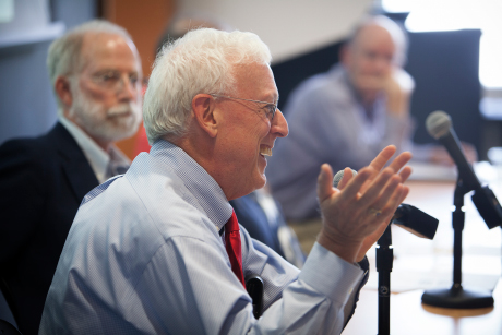 """span> Human development professor Robert Sternberg speaks at a Sept. 18 panel honoring Urie Bronfenbrenner, whom he said stands out among developmental psychologists from his era as """"the one person whose views are still accepted."""" - Lindsay France/University Photography"""