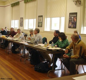 SWD Working Group meeting in 2012, addressing an invasive nightmare - spotted wing drosophila.