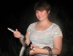 Kristen and Snake
