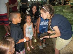 Caitlin Etri at Long Is Aquarium