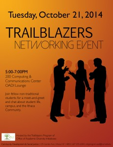 Trailblazers Networking Event 10-21 Flyer