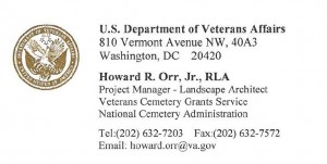 Vet Burial Contact Howard Orr