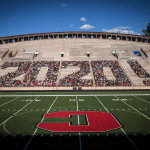 Class of 2020 in the stands at Schoellkopf Field