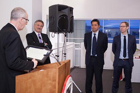 Picture of Cornell President, Steve Sibulkin and Greg Levow