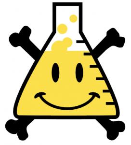 Image of arXiv smiley bones flask