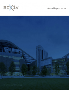 Screenshot of arXiv's 2020 annual report