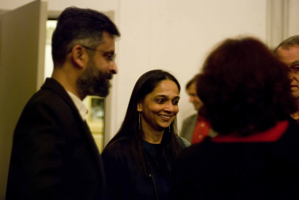 Mr. Dilip da Cunha and Mrs. Anu Mathur after the lecture