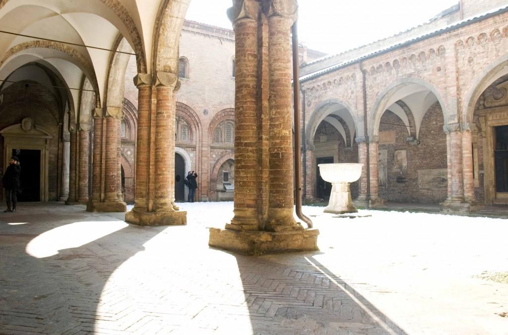 A courtyard of Santo Stefano