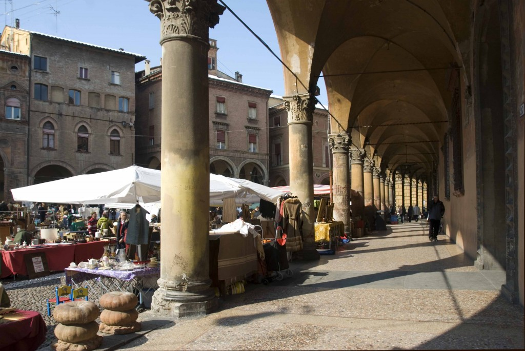 A flea market in Bologna