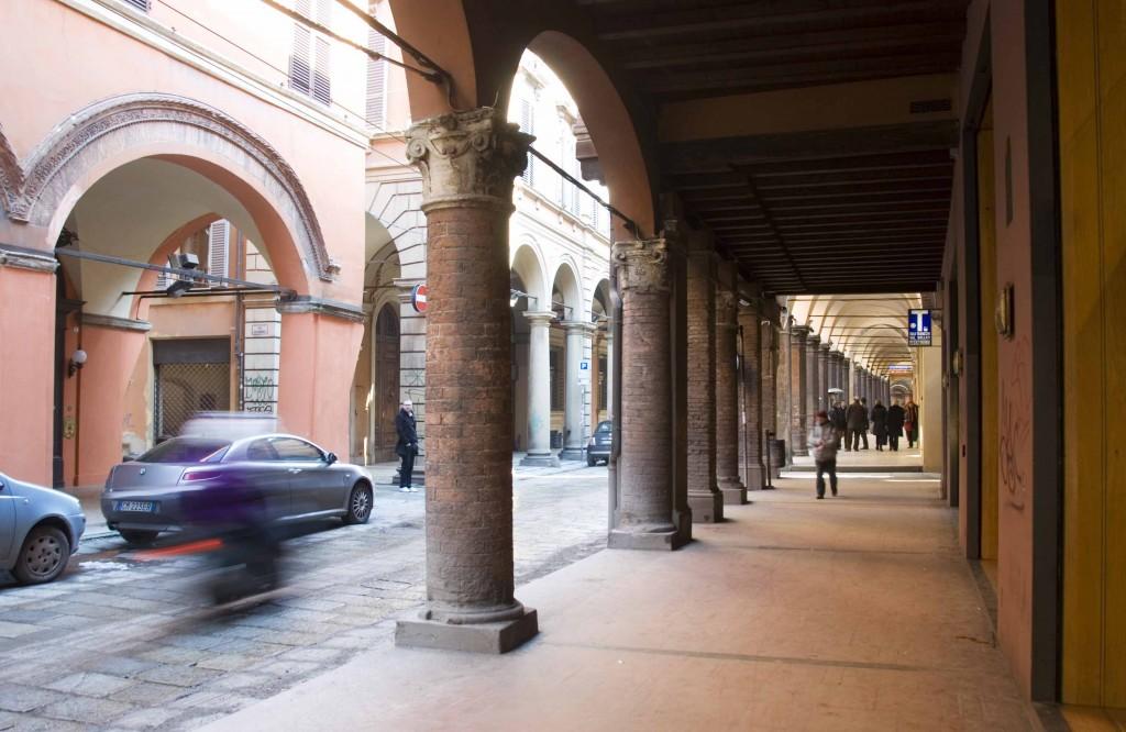 Via Farnini's beautiful porticoes