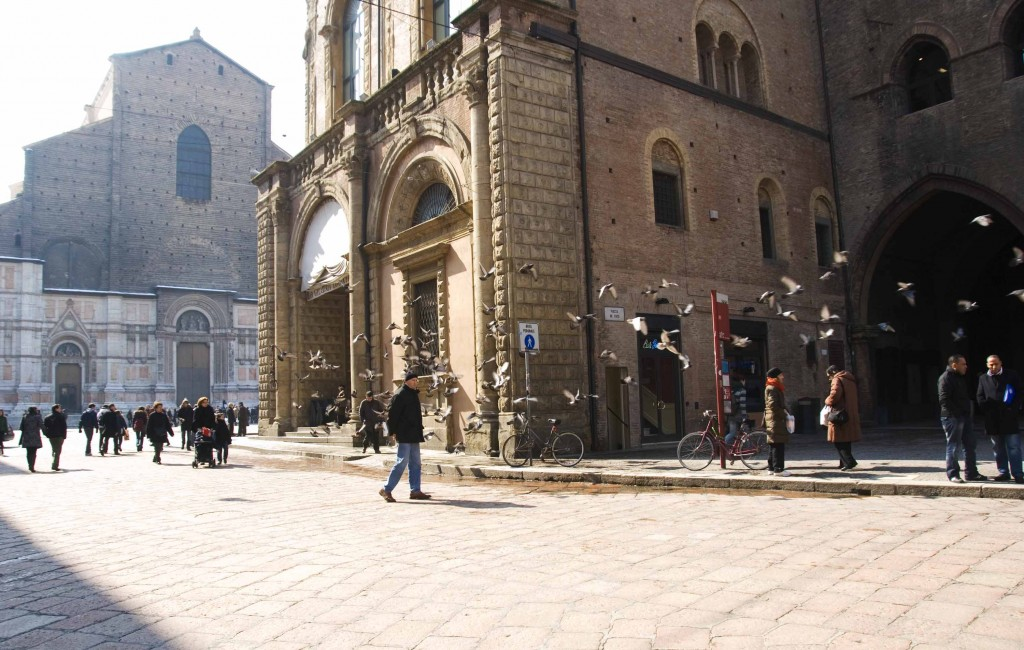 At the center square of Bologna