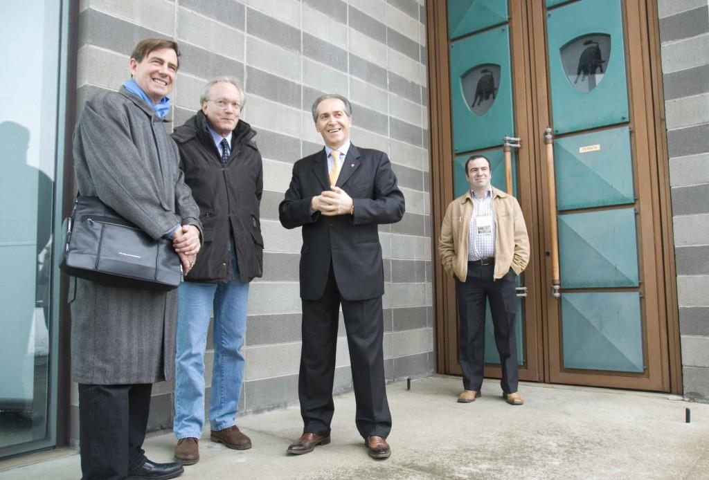 Professors Blanchard and Smith with Mr. Lamborghini